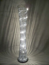 Modern Silver aluminium wire twisted round diablo LED floor lamp