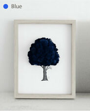 Reindeer Moss Preserved Frame for Air Purification Function Handmade Blue