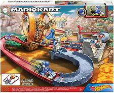 Hot Wheels Mario Kart BOWSERS CASTLE CHAOS Track Set with BLUE YOSHI