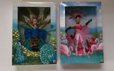 Peacock and Flamingo Barbie Birds of Beauty Series New Collector edition set 2