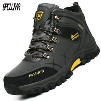 Brand winter snow boots warm sports outdoor men's hiking work shoes 39-47
