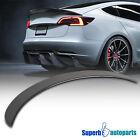 For 2017-2020 Tesla Model 3 Factory Glossy Black Carbon Fiber Trunk Spoiler Wing