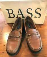 Bass Loafers Size 7 Brown Leather Comfort Slip On Shoe Martina  EUC Retail $59