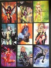 2008  WOMEN OF MARVEL SERIES 1 COMPLETE EMBOSSED CHASE  CARD SET , X MEN