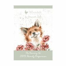 Wrendale Designs 2019 A3 Wall Calendar - Family Organiser by Hannah Dale