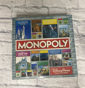 Disney Parks Theme Park Edition Monopoly Board Game New Sealed