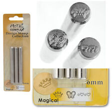 3 pcs 6mm CROWN HEARTS BUTTERFLY design Metal complex Stamp steel Punch Set