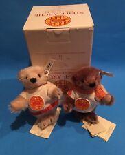 """""""STEIFF """"ARK TEDDY CHILDREN SET"""" EAN 038587  BLOND & CARAMEL MOHAIR SMALL BEARS"""