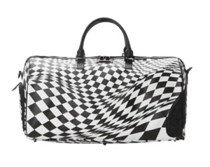 SPRAYGROUND TRIPPY CHECK SHARK DUFFLE BAG - Authentic - Limited Edition - New