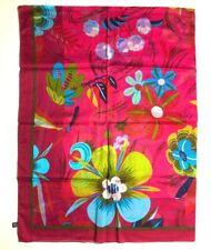 GUCCI Pareo Stole Scarf Shawl TOM FORD Paradise Flower Floral Red Cotton Rare