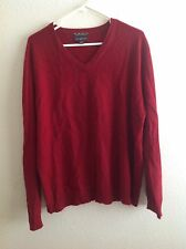 CLUB ROOM 2-PLY CASHMERE  MEN'S PULLOVER, XL  Sweater V Neck