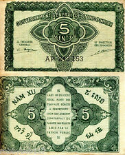 FRENCH INDO CHINA 5 Cents Banknote World Money VF- Currency p88b Asia Note BILL