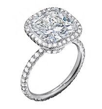 1.90 Ct Cushion Cut Diamond Engagement Halo Ring Platinum F,VS2 EGL Certified