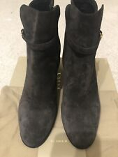 Pre-owned Burberry Stebbingford Block Heel Bootie Eu Size 39.5, US Size 8.5