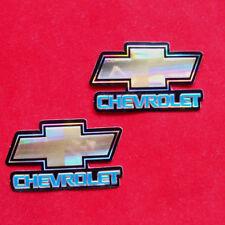 "3.00""x2p. chevrolet logo emblem racing vinyl chrome decal sticker foil emboss"