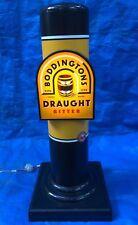 Vintage Boddingtons Draught Beer Bitter Bar Back Light Up Illuminated Sign Draft