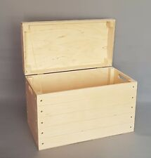 Ex Large Wooden Boxes Storage Heavy Tools Box Lid Handles Trunk Toys Garage