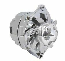 NEW CHROME ALTERNATOR FOR GM HOTROD BILLET PULLEY FAN 1 ONE WIRE HIGH 110A