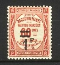 """FRANCE STAMP TIMBRE TAXE N° 53 """"RECOUVREMENT 1F s. 60c ROUGE"""" NEUF xx LUXE B113"""