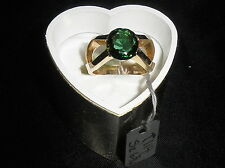 """One of a KInd .. Custom Design Green Tourmaline """"X"""" 14k  A Very Unique Ring"""