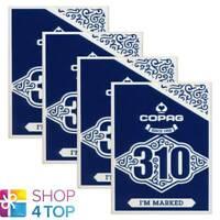 4 Decks Copag 310 I'M Marqué Poker à Jouer Cartes Paper Standard Index Bleu Neu
