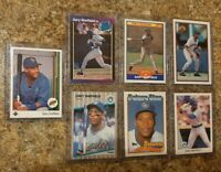 (7) Gary Sheffield 1989 Upper Score Fleer Donruss Leaf Topps Rookie card lot RC