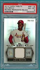 2013 Topps Tribute Relics Lou Brock Game Used Jersey - #RR – LB PSA 8! Cardinals