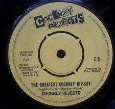 "Cockney Rejects The Greatest Cockney Ripoff 7"" vinyl single record UK Z2"
