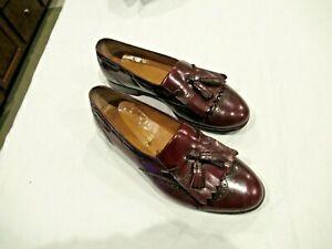 Salvatore Ferragamo oxblood red men's loafers shoes, sz. 10 EE