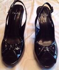 Linea Paolo black Patent Leather heels Beautiful! Size 10 N