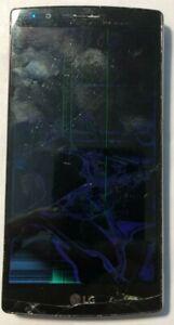 LG G4 LS991 32GB Black (Unknown) Smartphone PARTS REPAIR Bad LCD Cracked