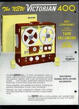 Victorian 400 Reel To Reel Tape Deck Rare Vintage Original Dealer Sheet Page