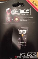 Zagg Invisibleshield for HTC EVO 4G Front Case Friendly Screen Protector Skin