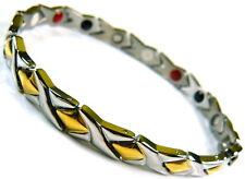 4in1Power Edelstahl Armband silber / gold