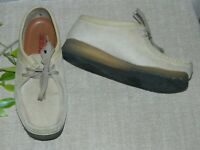 Clarks Originals Women's Suede Leather Wallabees Sand Beige Shoes Size 6.5 M