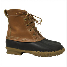 L.L. Bean Womens Boots Maine Hunting Shoe Duck Boots Brown Leather US Size 6M
