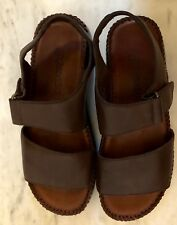 Ladies Brown Shoes St. John's Bay Comfortable Open Toe Size 6 M NEW