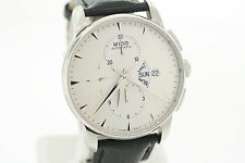Mens Mido Baroncelli Automatic M860741142 Chronograph Black Leather Strap Watch