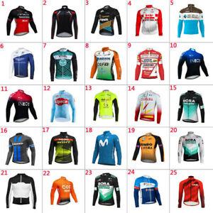 2021 Mens Thermal Fleece Cycling Jerseys Cycling long Sleeve Jersey Cycling Wear