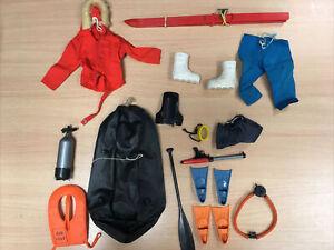 Vintage Action Man Job Lot Arctic Explorer Underwater Outfit Accessories bundle