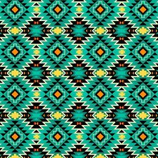 Cotton Fabric Native American Spirit Motif Argyle on Gray Indian   BTY