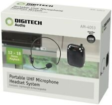 DIGITECH Portable Wireless UHF Microphone Headset System/compact lightweight