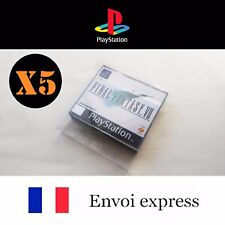 5X Protection transparente boite BIG BOX PS1 Playstation - boitier case sleeve