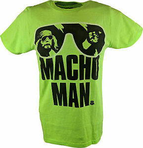 Macho Man Randy Savage Neon Green Mens T-shirt