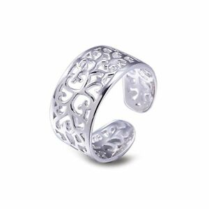 New 925 Solid Sterling Silver FILIGREE Adjustable  Toe ring