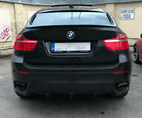 Diffuser and side flaps For BMW E71 Performance Splitter Valance m sport x6