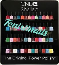 CND Shellac SALON SET ~ Pick ANY 52 Shellac Bottles .25 oz FREE Display Rack NIB
