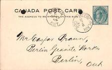 "Canada Postal Cover ""Stanstead Granite - Berlin ON -Beebe Plain QC Postmark-1904"