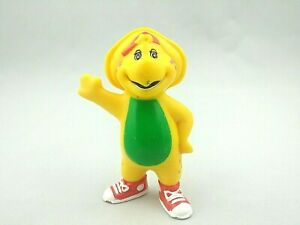 """Vintage BJ Yellow Dinosaur 3"""" PVC Figure Toy 1996 Barney and Friends Big Brother"""