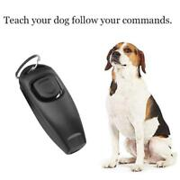 NEW Black Dog Pet Puppy Cat Training Clicker&Whistle Click Trainer Obedience AUS